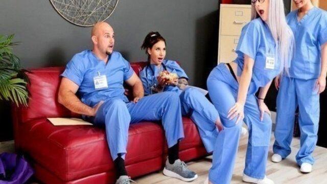 Hemşireler doktorlar hastanede grup sikişiyorlar